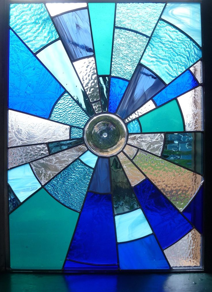 Stained Glass Panels | Stained Glass Panel Midnight Suncatcher by BlueFishStudios