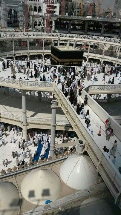 """New look for the Kaaba area whilst huge construction work progresses"" ~ via Hadith of the Day"