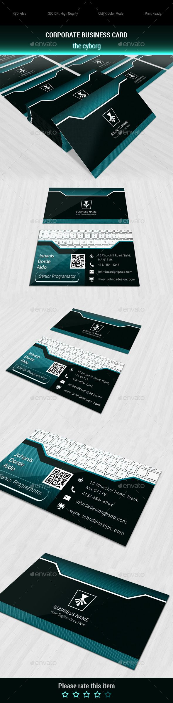 Corporate Business Card the Cyborg