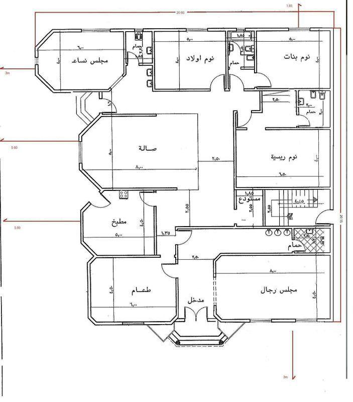 مخطط دور ارضي مخطط مخيم دور ارضي بيت منزل منزلي بيتي تصميم مخططات رسم عماره بيت الع Indian House Plans Home Design Floor Plans Home Stairs Design