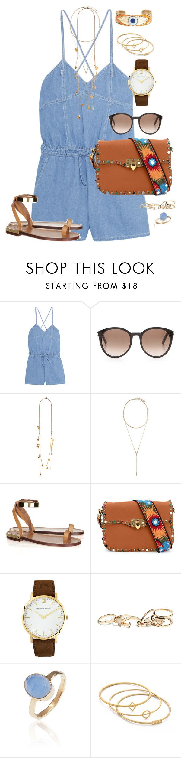 """""""Coffee Talk"""" by hrebecca73 ❤ liked on Polyvore featuring Steve J & Yoni P, Yves Saint Laurent, Chloé, BCBGeneration, Valentino, Larsson & Jennings, GUESS, Latelita, Madewell and Dream Collective"""