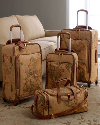 """Geo Classic"" Luggage by Alviero Martini Spa at Horchow."