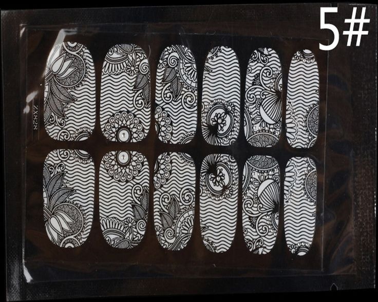 New 3D Lace Nail Art Tips Sticker Decal Full Wraps Glitters DIY Decoration 450004#5