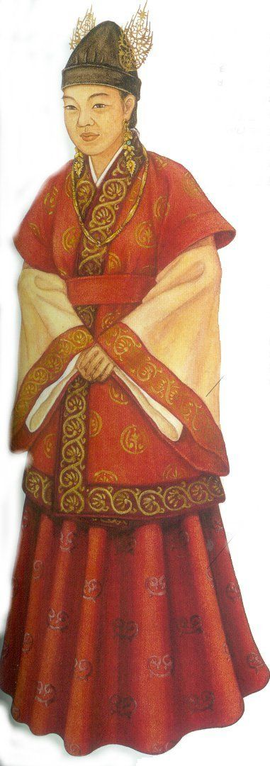 백제인의  의복(복식) - Queen's Attire