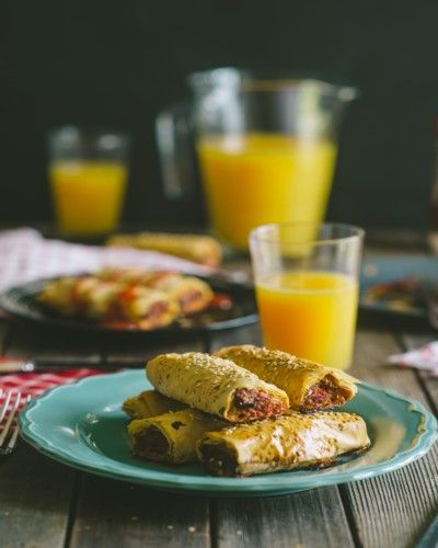 Chorizo sausage rolls | Mostly Healthy Food & Drink | Pinterest