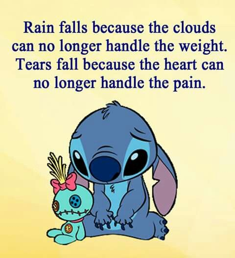 Awww this made me sad:( Poor Stitch