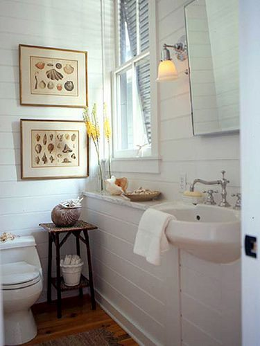 Simple beach bathroom - if we go with cabana guest house.