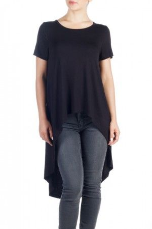 ERIKA BLACK Tricou negru cu trenă femei. GET It HERE >> http://superjeans.ro/branduri/superjeans-of-sweden/tricou-cu-trena-erika-pentru-femei-1.html