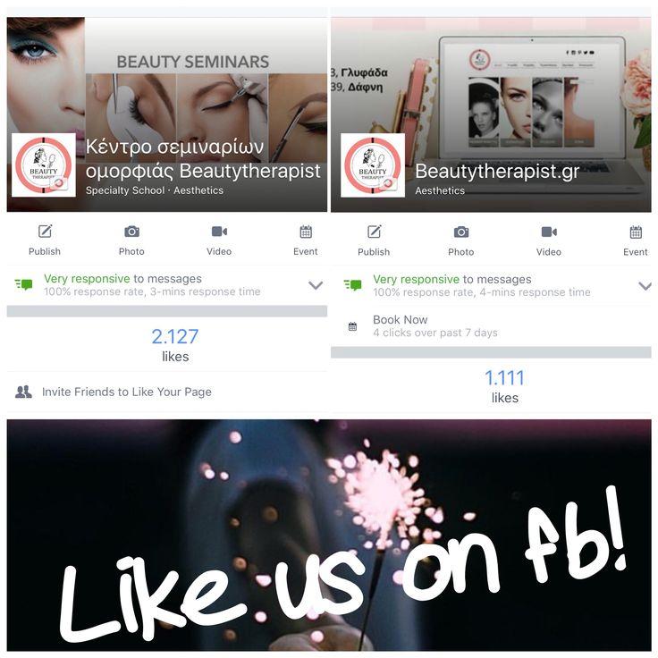Ακολουθήστε μας στο facebook! Beautytherapist.gr! Μόνιμο μακιγιάζ, extensions βλεφαρίδων, αισθητική προσώπου & σώματος, μόνιμη αποτρίχωση! Δύο σύγχρονα ινστιτούτα αισθητικής σε Γλυφάδα και Δάφνη!