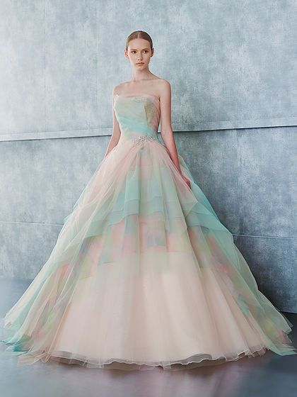 Pastell Regenbogen Kleid