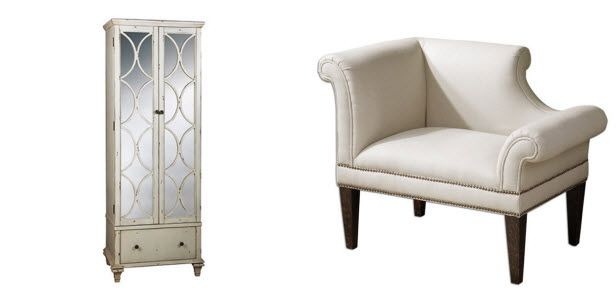 Melissa Gorga has created a home collection with Joss & Main—love this small chair/settee.