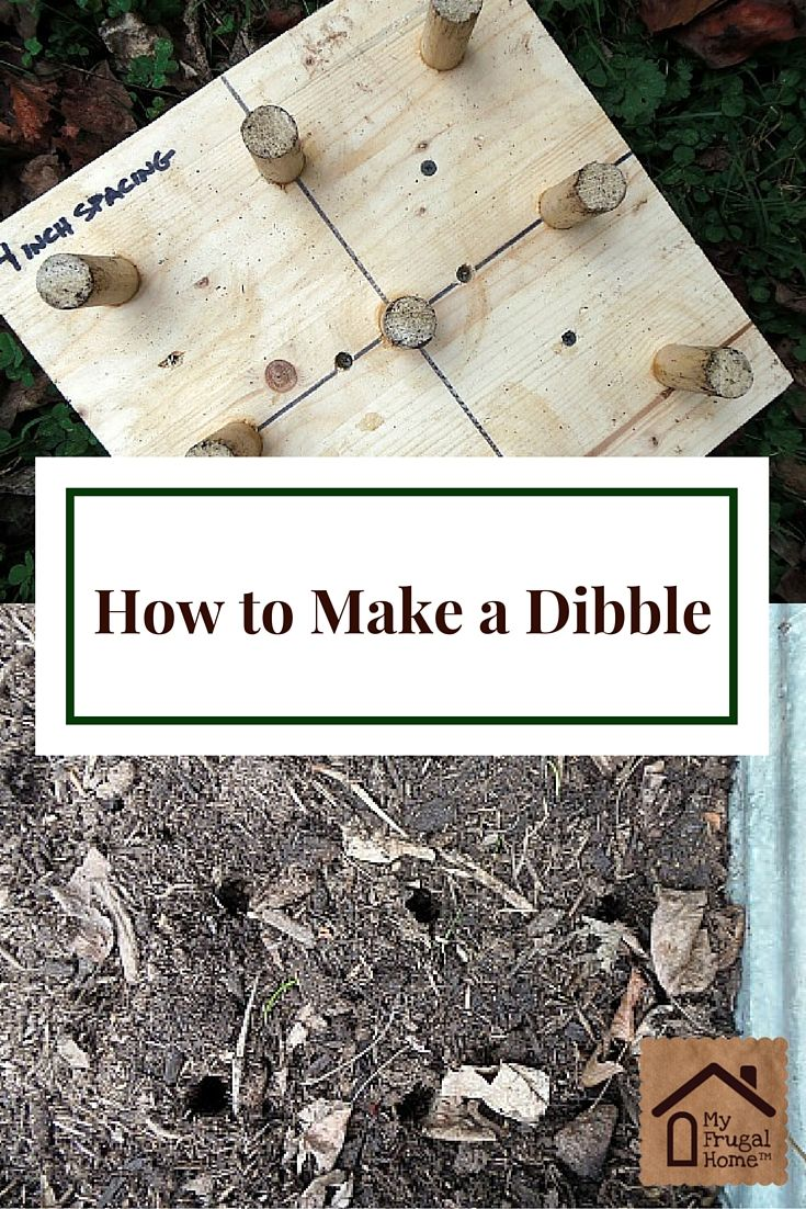 Square foot garden map free printable for garden journal - How To Make A Dibble This Simple Easy To Build Tool Allows