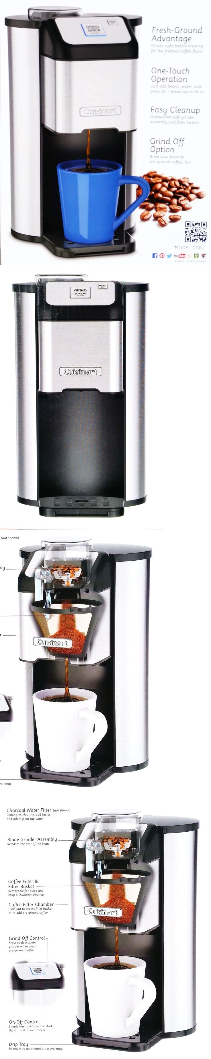 appliances: Cuisinart Grind And Brew Single Serve Coffee Maker 1 Cup Coffeemaker With Grinder -> BUY IT NOW ONLY: $59.89 on eBay!