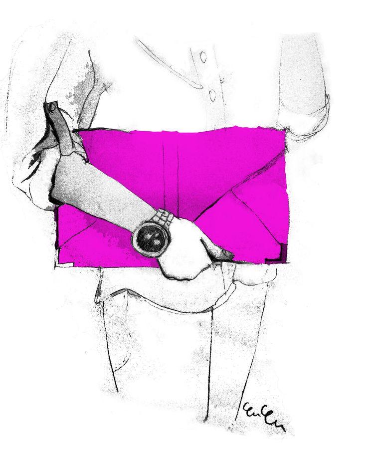 YUYU - pink clutch