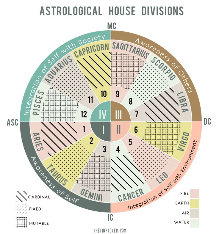 The Tiny Totem blog: The Four Quadrants in a Birth Chart