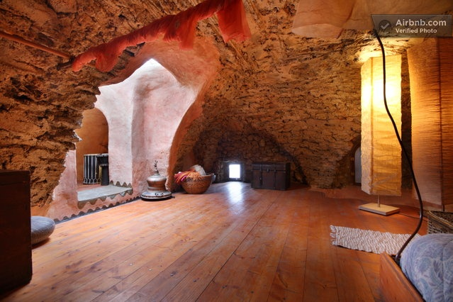 airbnb room in a cave!