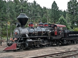 Baldwin Seven locomotive, that runs from the bottom of the mountain to the top of Mt. Rushmore, South Dakota