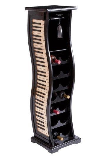 Superb Luxe Living Furniture U0026 Decor Wood Piano Key Wine Rack ~I Donu0027t Drink
