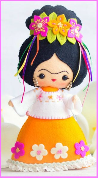 frida estilosa da Laurina Crafts