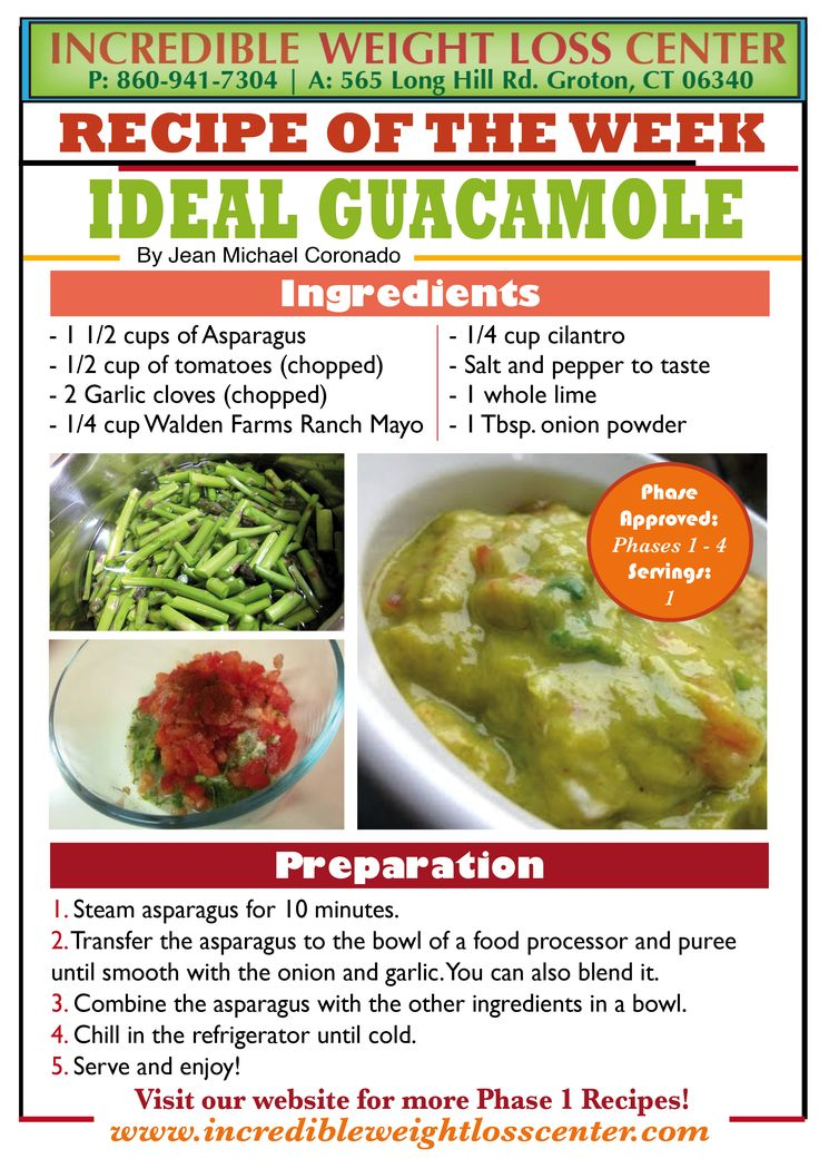 Phase 1 Approved Guacamole! Mockamole, it is delicious, filling, refreshing and if you have it with your Ideal Protein chips, it counts as your 2 cups of vegetables + protein.