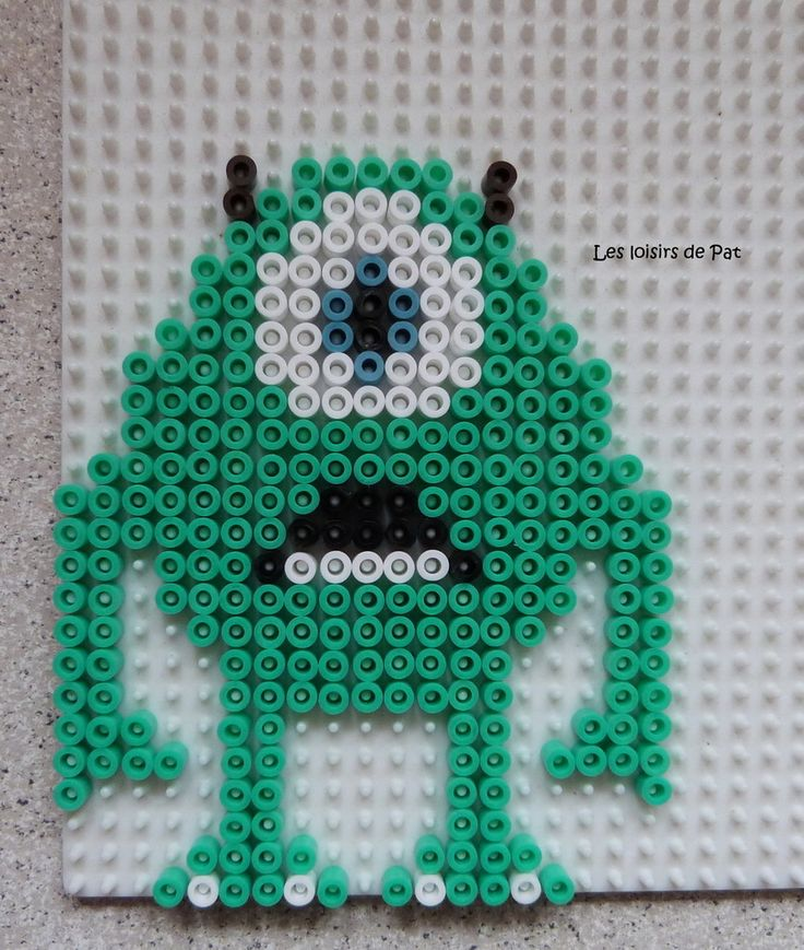 Mike - Monsters, Inc. hama beads by Les Loisirs de Pat
