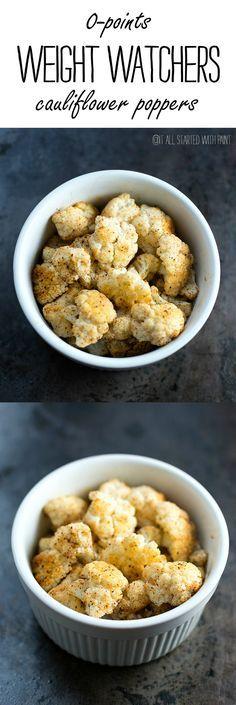 Weight Watchers Recipe Ideas for Snacks - Zero Point Cauliflower Recipe