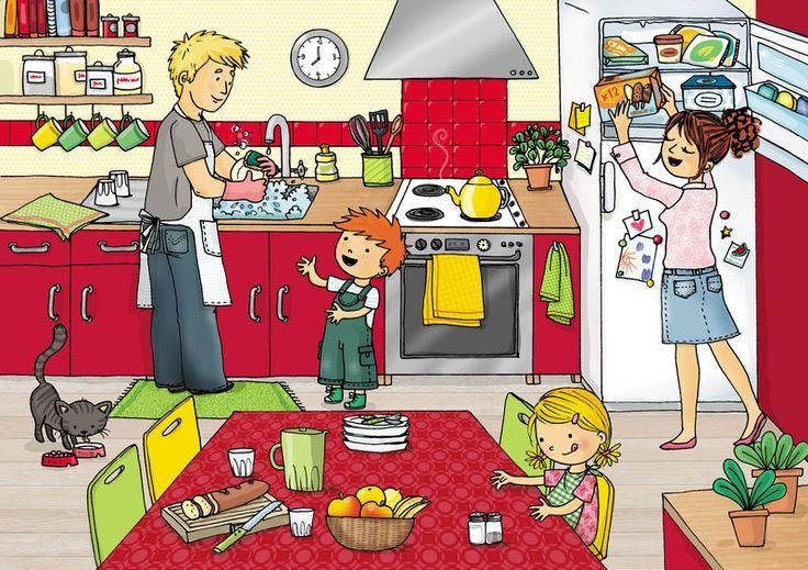 En la cocina.