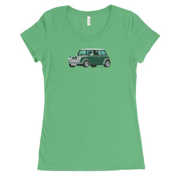 Mini Cooper S, Car in Green on Green, Women's Tee