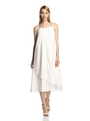 59% OFF NICK by Nicholas K. Women's Amber Double Layer Maxi Dress (Off white)