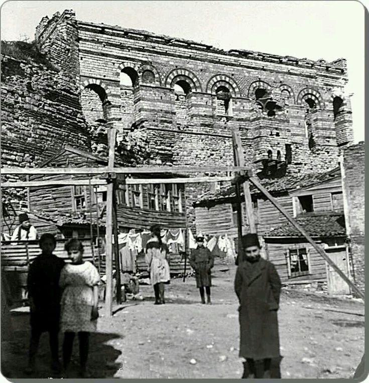 Eğrikapı Tekfur Sarayı 1900'ler..