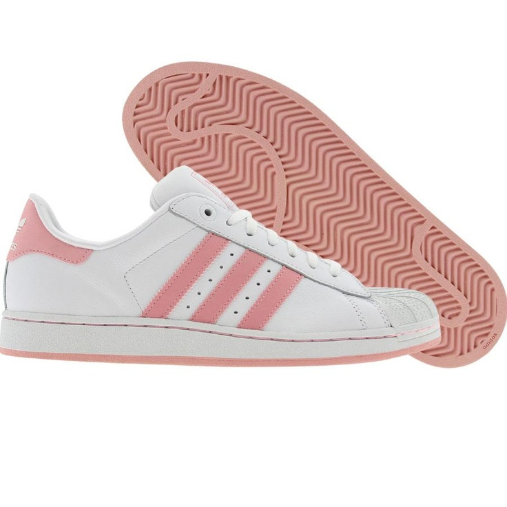 Adidas Superstar Pink And White Stripes