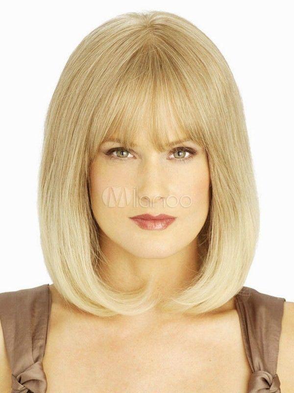 Mac косплей л . л .! Новые женские мода парик короткие смесь блондинка полные парики