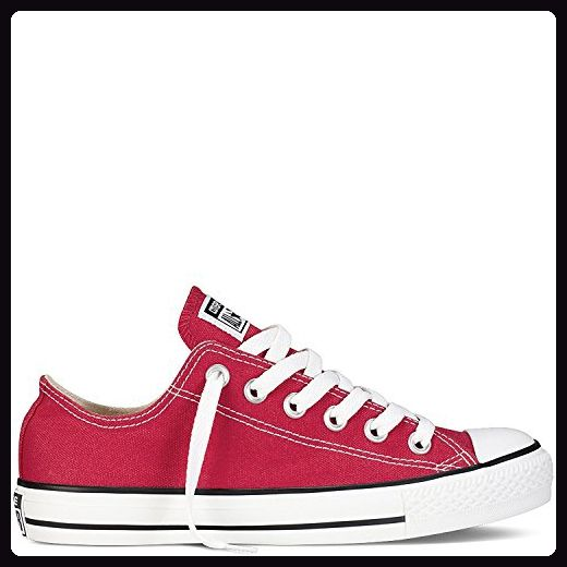 Converse  Converse, Herren Sneaker Schwarz/Schwarz 7.5 B(M) US Women / 5.5 D(M) US Men, - Rot - Größe: 11.5 B(M) US Women / 9.5 D(M) US Men - Sneakers für frauen (*Partner-Link)