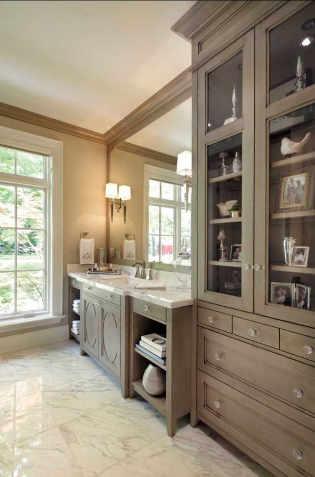 25 best ideas about built in vanity on pinterest bedroom dressing table dressing table - Stain inside of cabinets ...