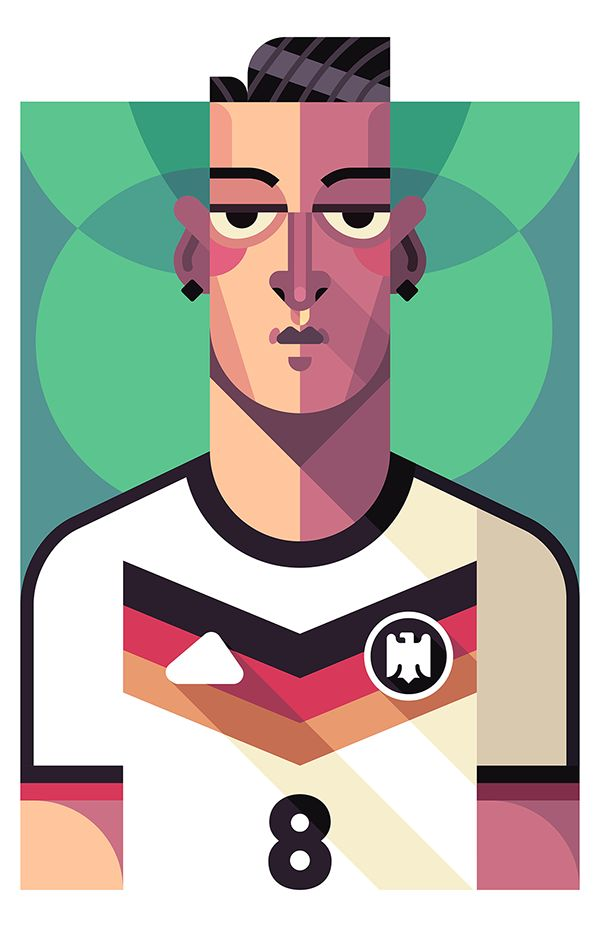 A series of Football Player Portraits done for various clients.