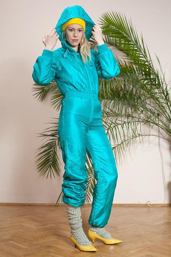 eb33568a86e Winter ski suit•Winter overall•Snowboard suit•Vintage ladies one piece ski  suit•90s ski sportswear•Winter jumpsuit•Ladies snow suit• Onsie
