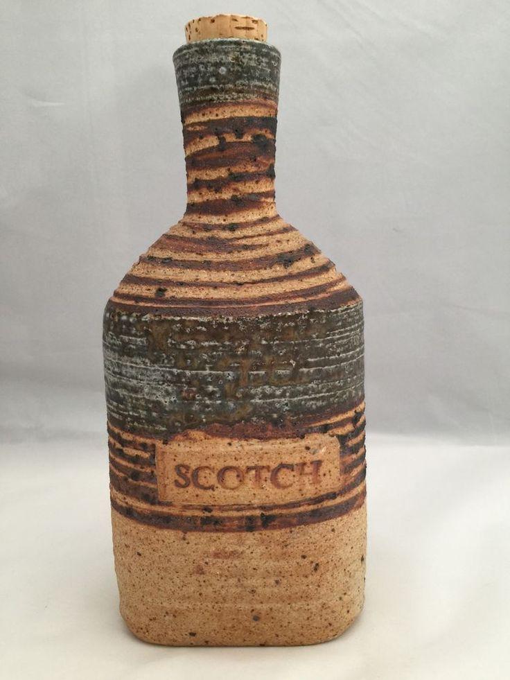 Tue Poulsen Denmark Liquor Bottle Scotch Art Pottery