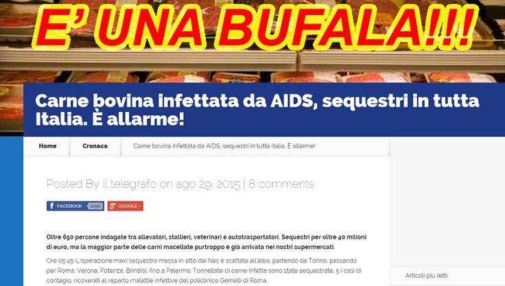 Carne Bovina con l' Aids? E' UNA BUFALA!