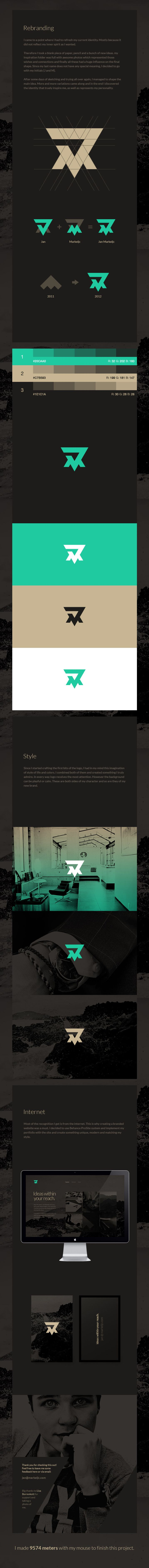 Markeljc | Designer: Jan Markeljc. Not my favorite monogram, but the process is interesting