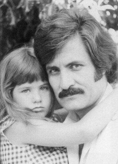 Jennifer Aniston with her father