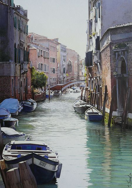 Venice: Watercolor, The Neighborhood, Venice, Travel, Thierry Duval, Place