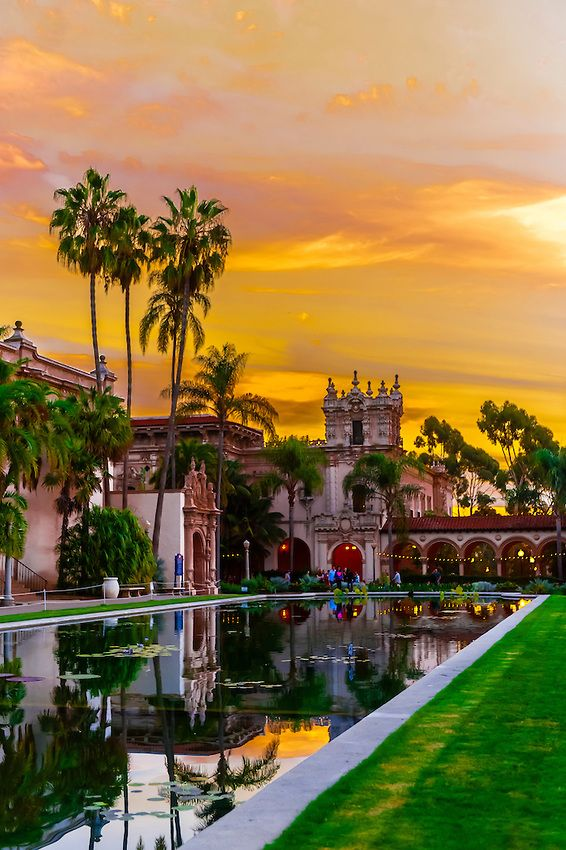 Sunset | Laguna de las Flores | Balboa Park | San Diego | California