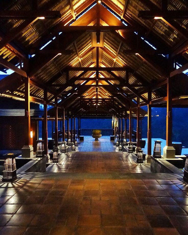 "The beautiful lighting along the main building of ""wantilan"" at @mandapareserve Designed by #MilesHumphreysArchitect"