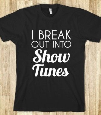 the perfect shirt for every musical theater lover