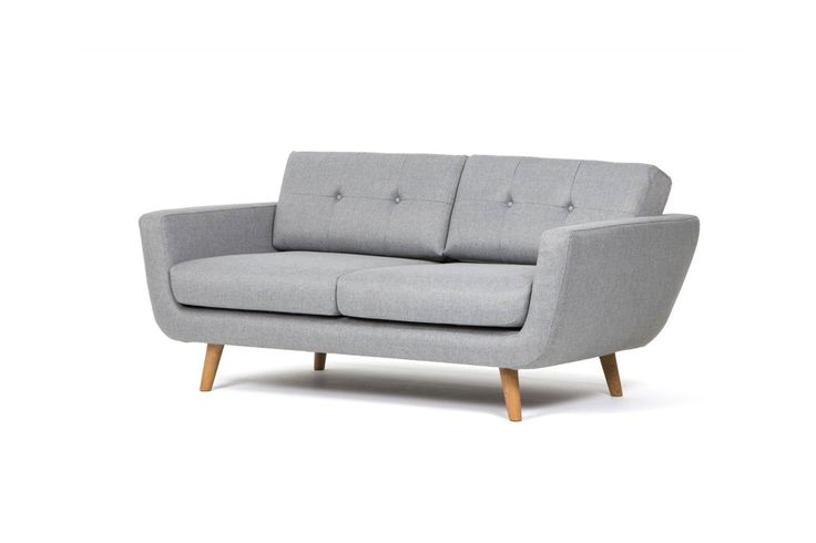 Awesome Couch, Sofa, 2 Person. Fabric Vence 276 Grey, Oak Legs. Danish Design. |  Scandinavian Boho Home | Pinterest | Couch Sofa, Armchairs And Interiors
