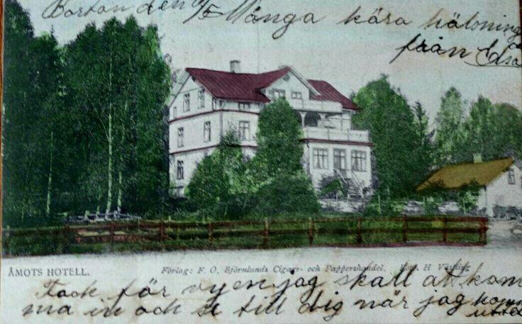 Värmland Eda kommun Åmotfors Åmots Hotell Utg F O. Björnlund kolorert kort
