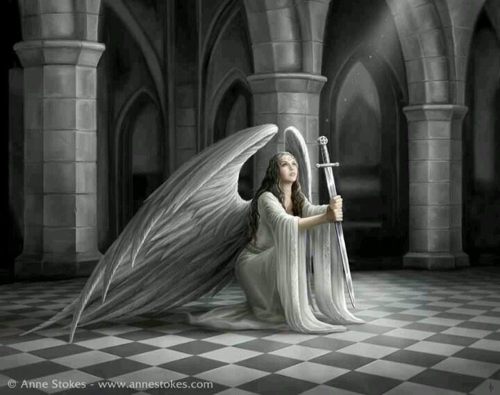 Anne Stokes angel fantasy art angels