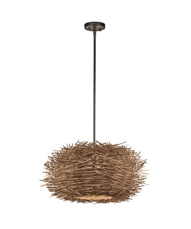Kichler twigs 21 inch wide 1 light large pendant