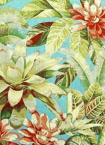 "Botanical Bliss Caribbean - Tommy Bahama fabric mulitpurpose decorator fabric, 100% Cotton. 27""V x 27""H , 54"" wide."