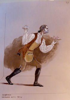 Toer van Schayk, kostuumontwerp voor de schoenmaker in Cinderella van Sir Frederick Ashton, Warschau 2010.